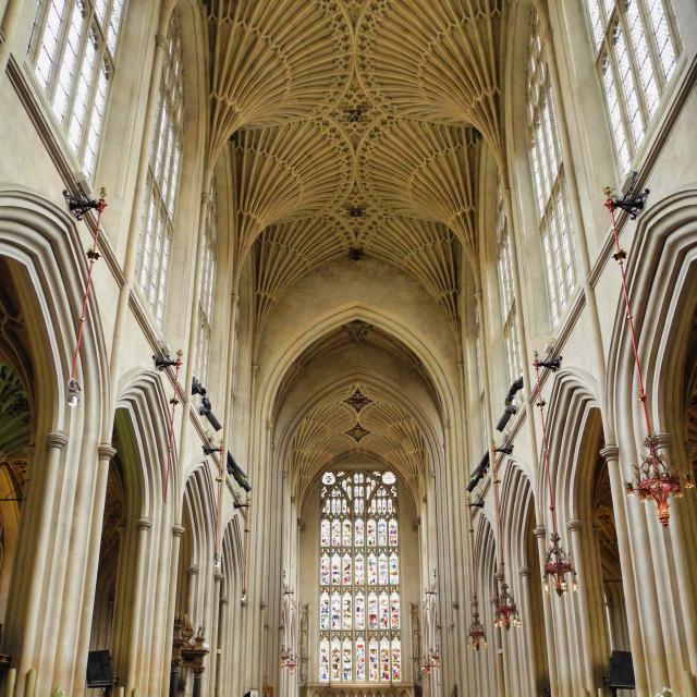 """Bath Abbey interior"" stock image"