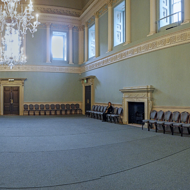 """""""The Ballroom (panoramaj, The Assembly Rooms, Bath"""" stock image"""