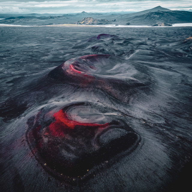 """""""Volcanic craters"""" stock image"""