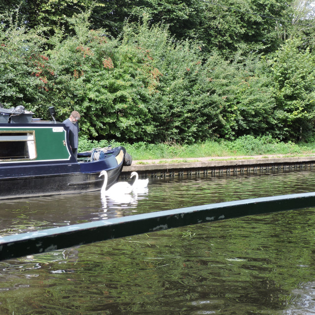 """""""Narrowboat trip Staffordshire & Worcestershire Canal September 2020"""" stock image"""