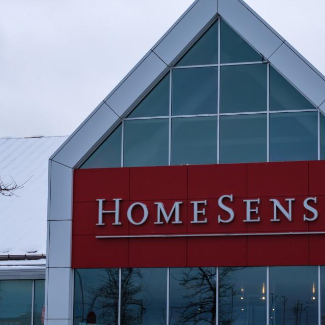 """""""HomeSense store in winter, Ottawa"""" stock image"""