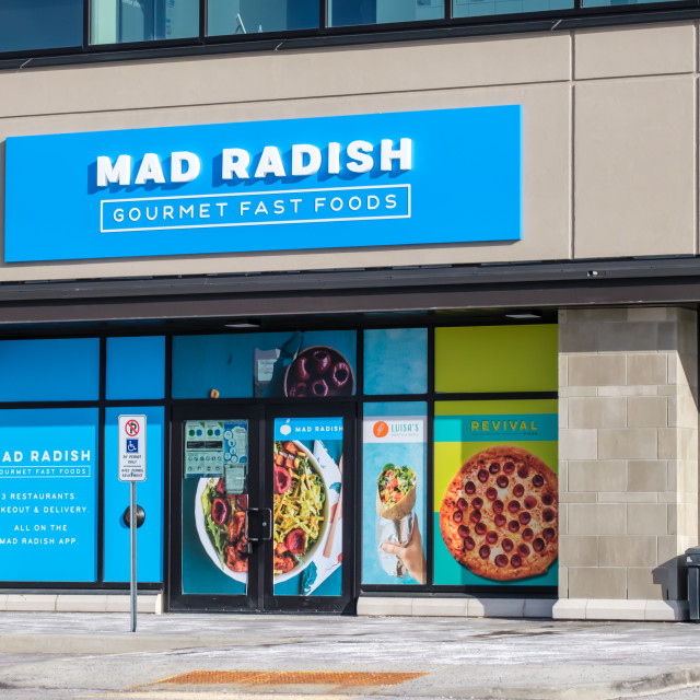 """""""Mad Radish Gourmet Fast Foods in Barrhaven"""" stock image"""