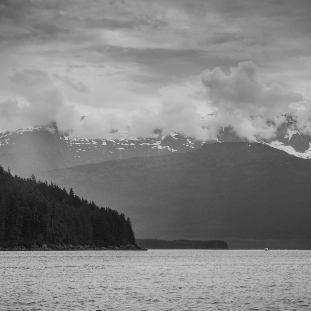 """Coastline, Inside Passage, Alaska"" stock image"