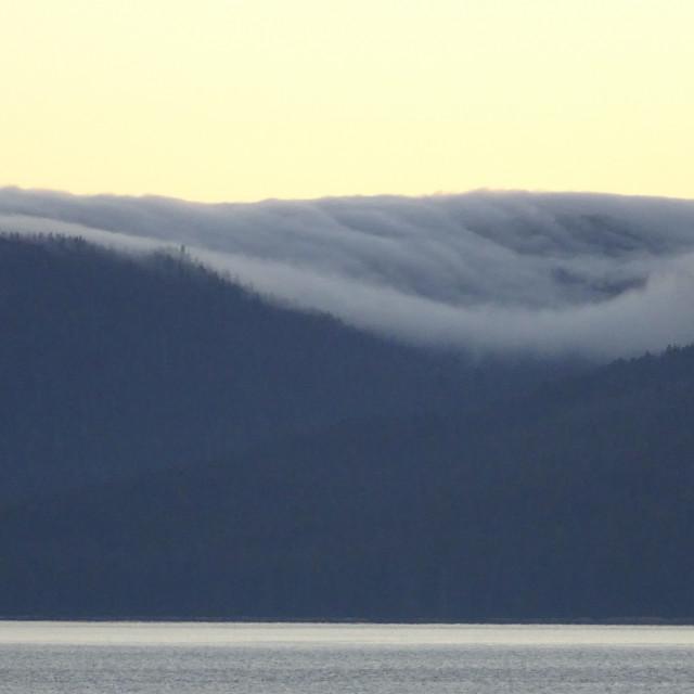 """Alaskan coast, view towards Kosciusko or Prince of Wales Islands"" stock image"
