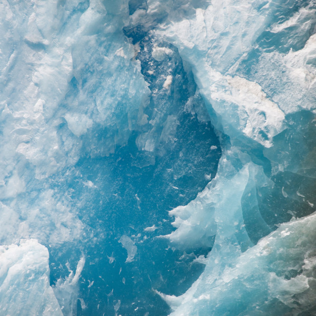 """Ice closeup, North Sawyer Glacier"" stock image"
