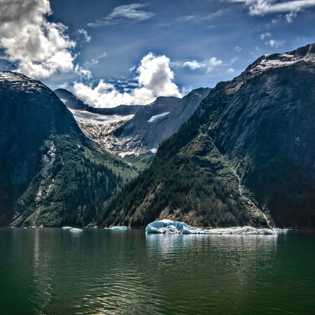 """""""Mountains with hanging glacier"""" stock image"""