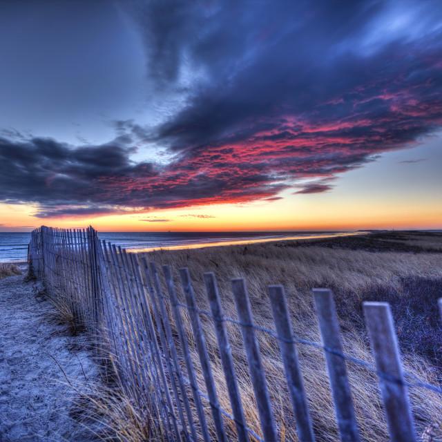 """Sunrise at Duxbury Beach 2"" stock image"