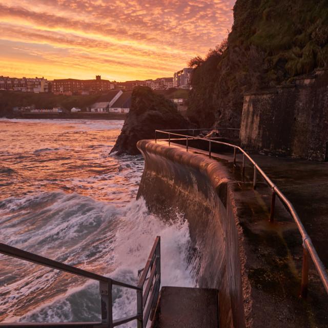 """Harbour sunrise"" stock image"