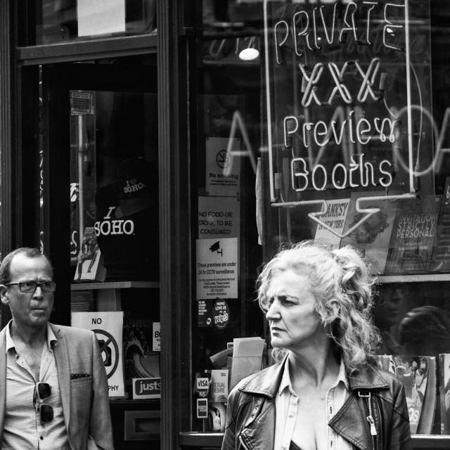 """Soho, London, in Monochrome"" stock image"