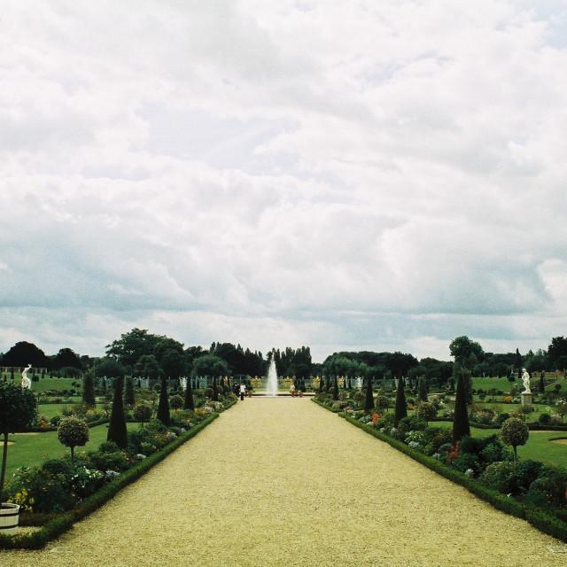 """Hampton Court Palace"" stock image"