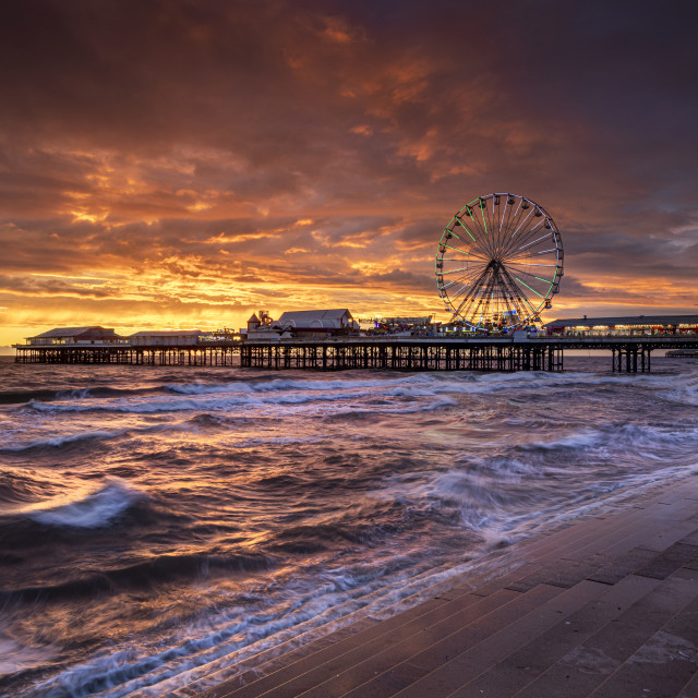 """""""Central Pier, Blackpool"""" stock image"""
