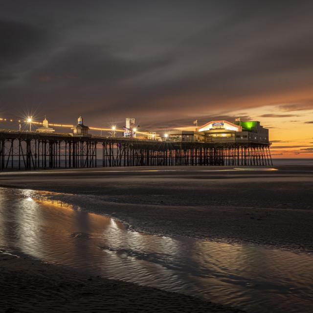 """North Pier Sunset"" stock image"