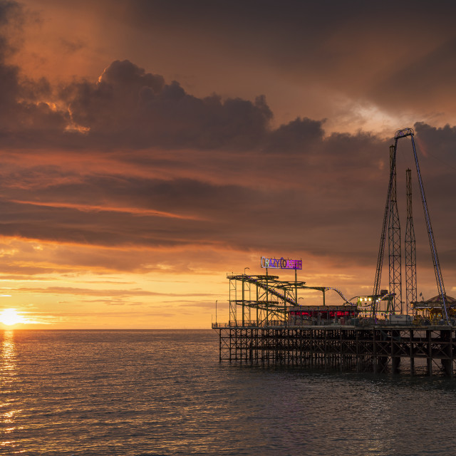"""South Pier Sunset"" stock image"