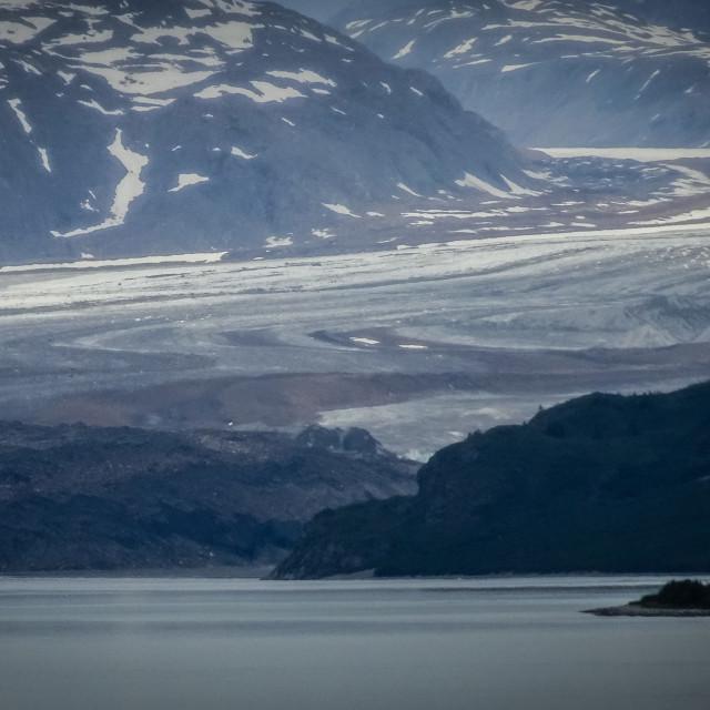 """""""Grand Pacific Glacier, Glacier Bay, Alaska"""" stock image"""