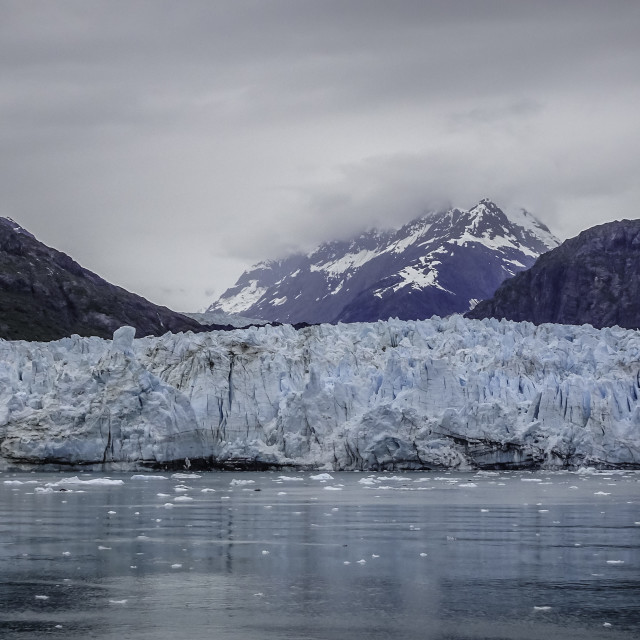 """Margerie Glacier face, Glacier Bay, Alaska"" stock image"