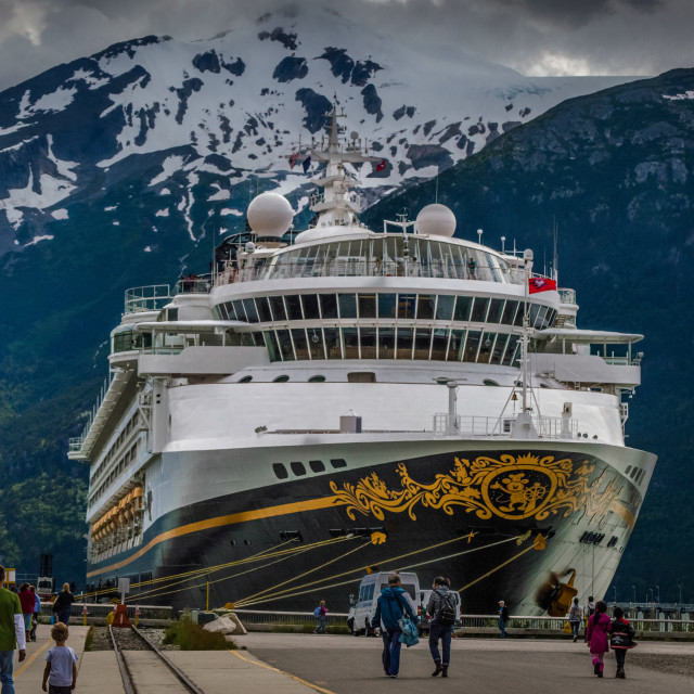 """Disney Wonder cruise ship"" stock image"