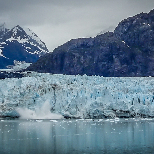 """Margerie Glacier calving"" stock image"