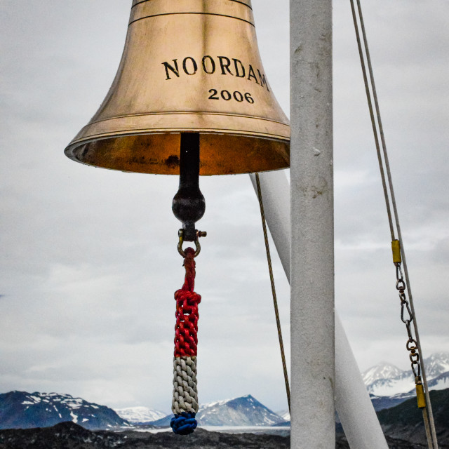 """MS Noordam ship's bell"" stock image"