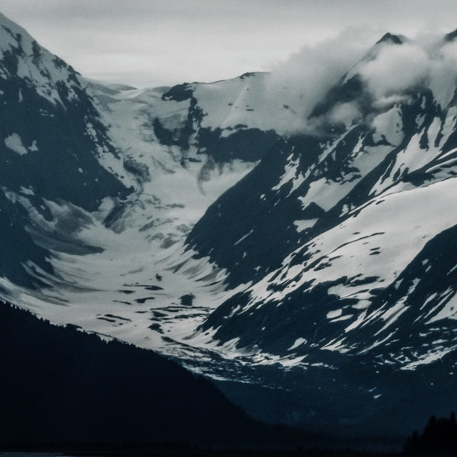 """""""Mountains south of Turnagain Arm"""" stock image"""