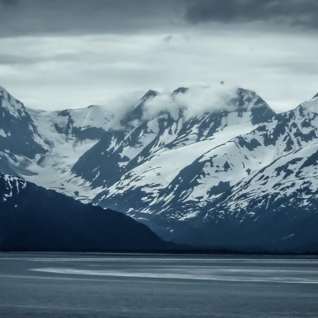 """Turnagain Arm & mountains"" stock image"