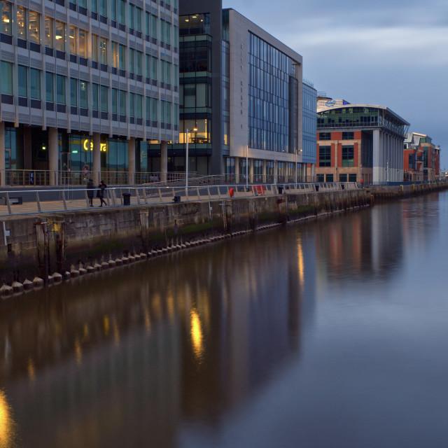 """""""CIty Quays, Belfast"""" stock image"""