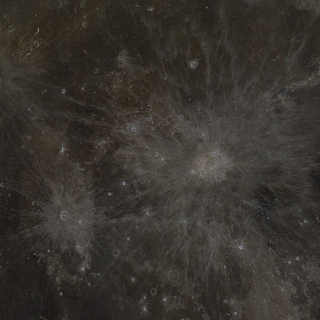"""""""Triple moon Craters"""" stock image"""