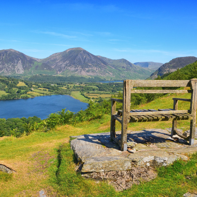 """Overlooking Loweswater - Lake District Landscapes"" stock image"