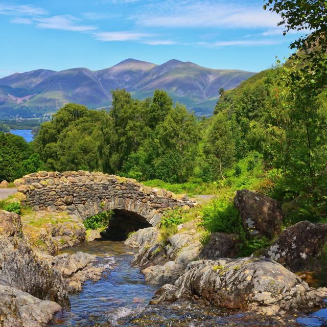 """Ashness Bridge - Lake District Landscapes"" stock image"