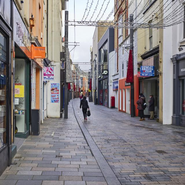 """Strand Street in Douglas, Isle of Man"" stock image"