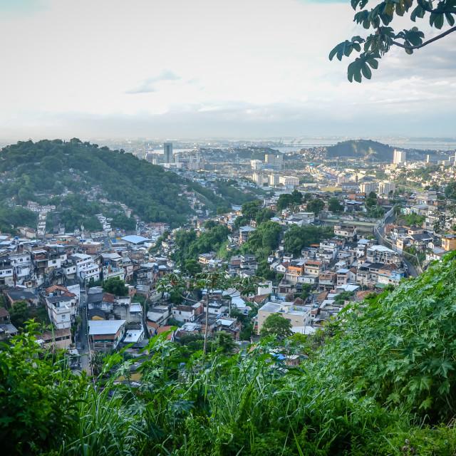 """""""Looking over Rio from Santa Teresa, Rio de Janeiro, Brazil"""" stock image"""