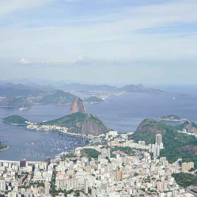 """""""The view from Corcovado, Rio de Janeiro, Brazil"""" stock image"""
