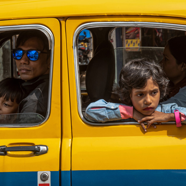 """""""TAXI PASSENGERS"""" stock image"""