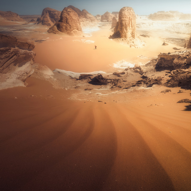 """Lone Martian"" stock image"