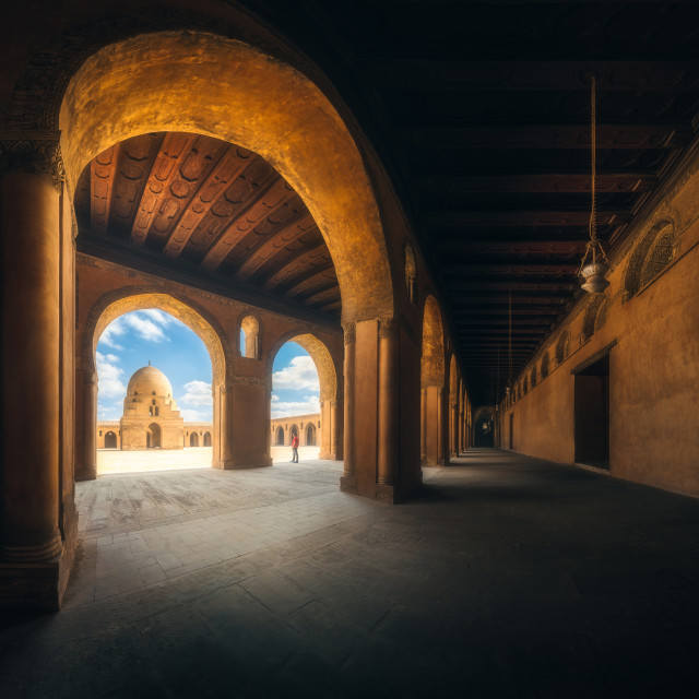 """""""Mosque in frame"""" stock image"""