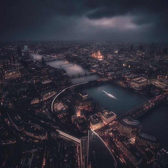 """""""Apocalyptic London"""" stock image"""