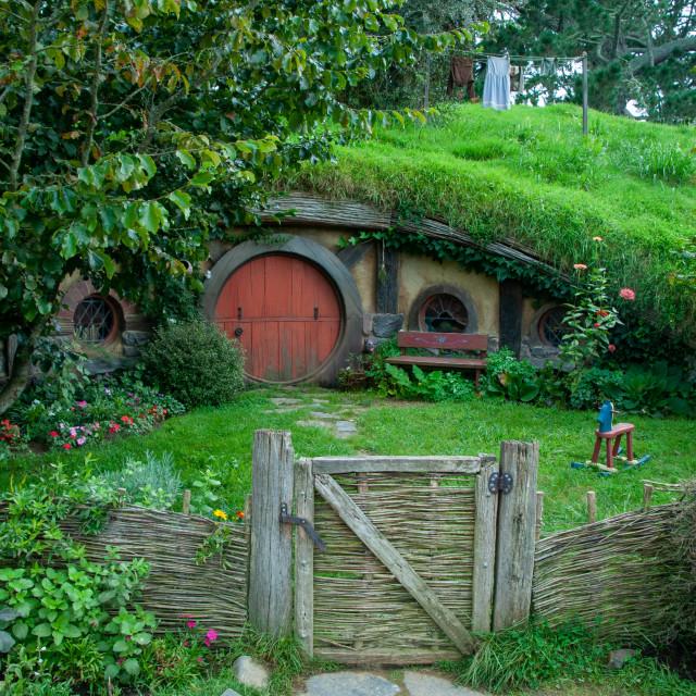 """Hobbit Dwelling, Hobbiton"" stock image"