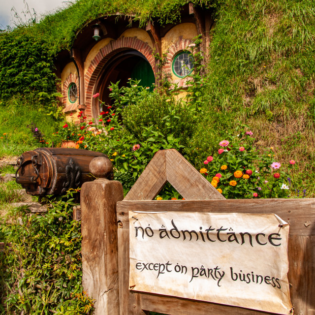 """Bilbo Baggins' Hole"" stock image"
