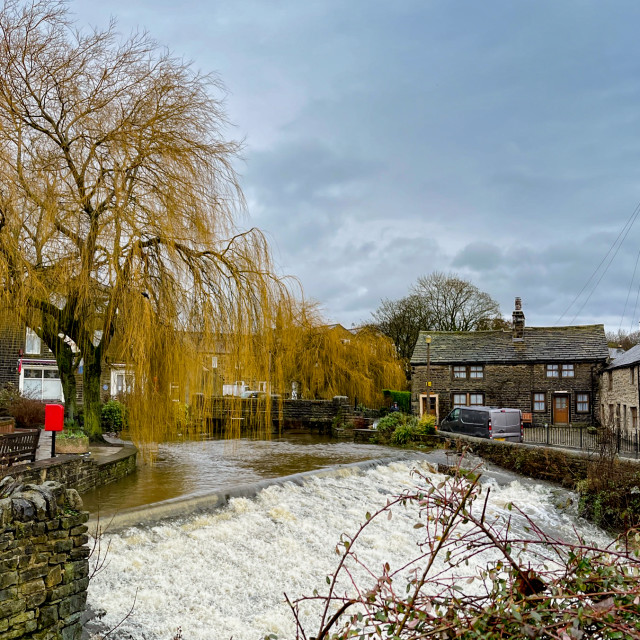 """""""The Beck, Silsden (Cobbydale) Yorkshire, England .Photographed 20th January 2021"""" stock image"""