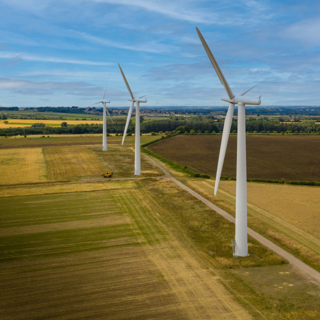 """Westmill Wind Farm"" stock image"