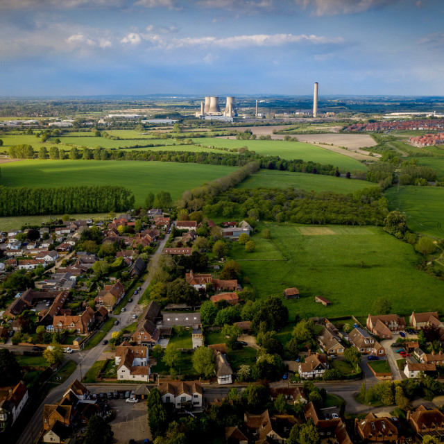 """""""Didcot Power Station"""" stock image"""