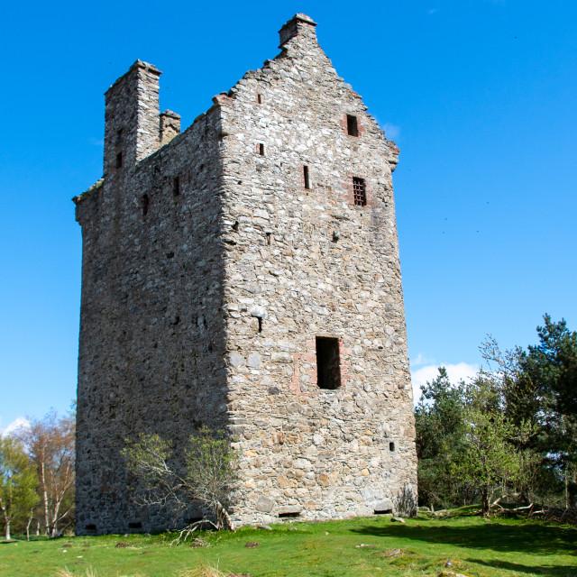"""Invermark Castle"" stock image"