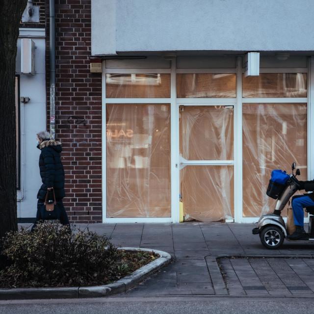 """""""Ladensterben in der Coronakrise im Stadtteil Eimsbuettel"""" stock image"""