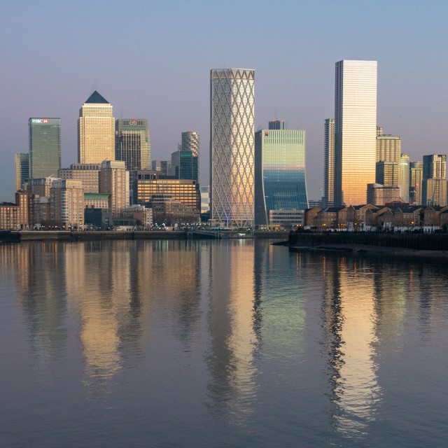 """""""Canary Wharf reflected"""" stock image"""