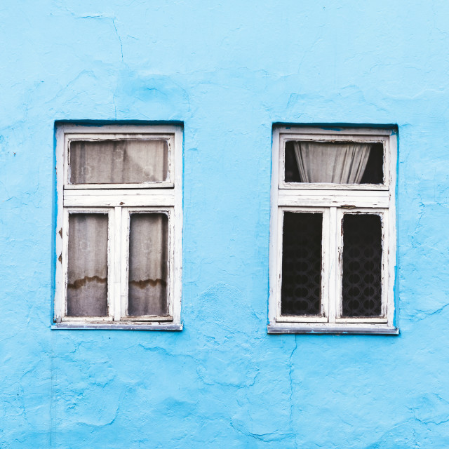 """""""Old traditional vintage house facade and window"""" stock image"""