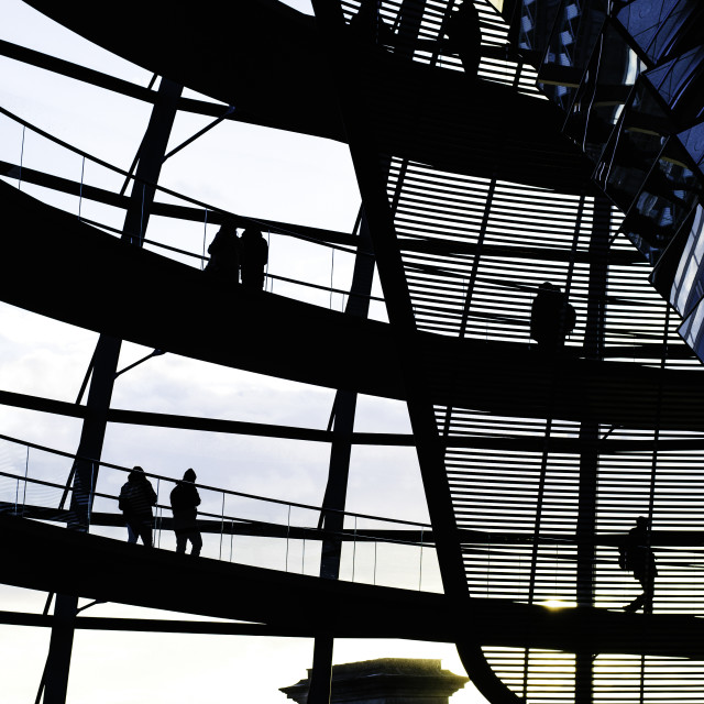 """""""Parliament glass dome, Berlin"""" stock image"""