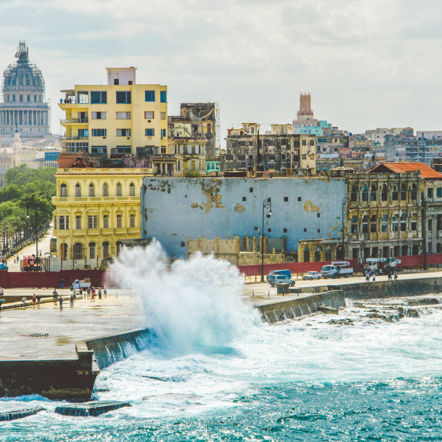 """""""Havana Old Town viewed from a cruise ship"""" stock image"""