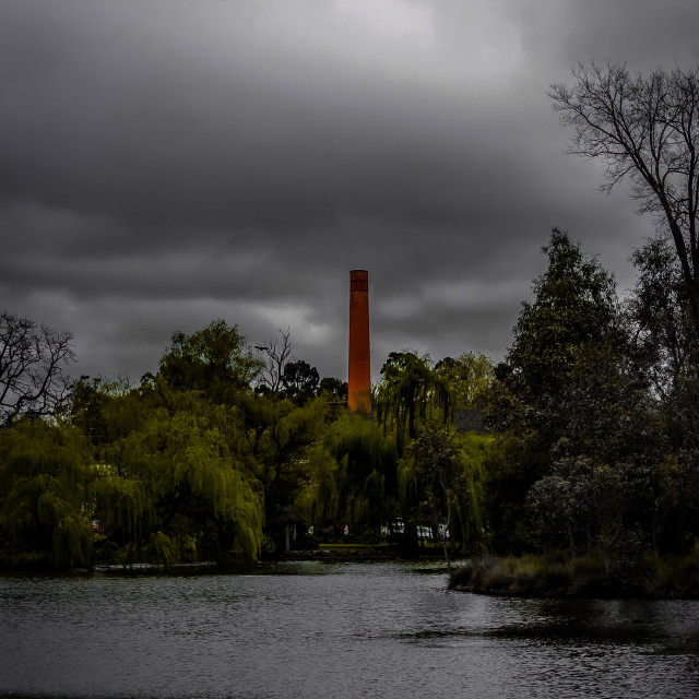 """Stormy Lake"" stock image"