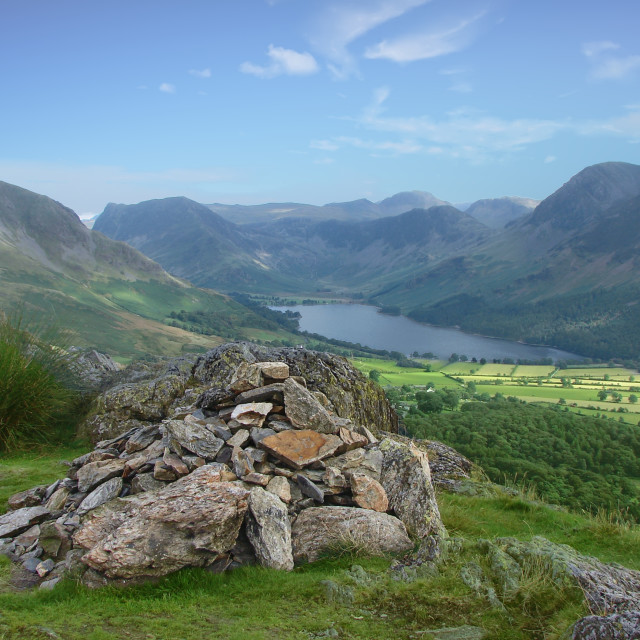 """Rannerdale & Buttermere - Lake District Landscapes"" stock image"