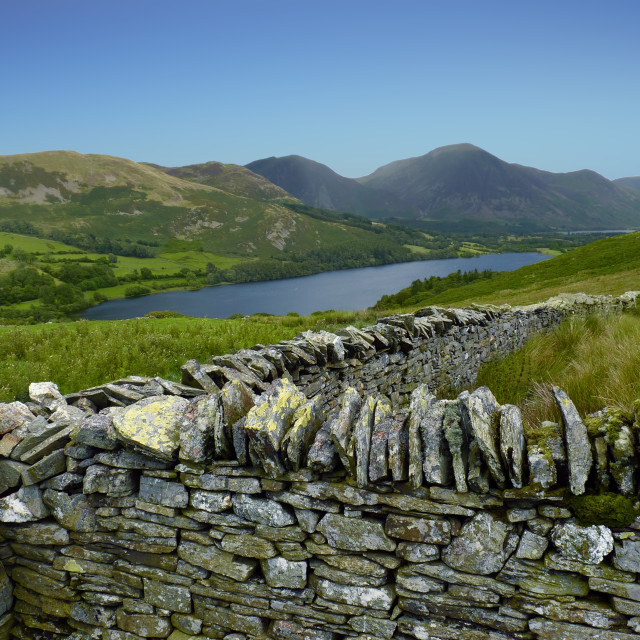"""Dry Stone Wall, Loweswater - Lake District Landscape"" stock image"