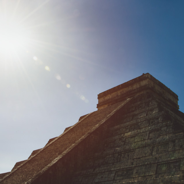 """""""Mayan pyramid in Chichen Itza, Mexico"""" stock image"""